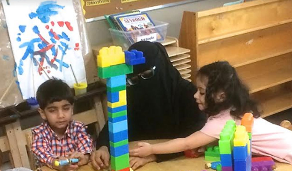 A worker in a Canadian pre-school wearing a niqab (Photo: John Goddard)
