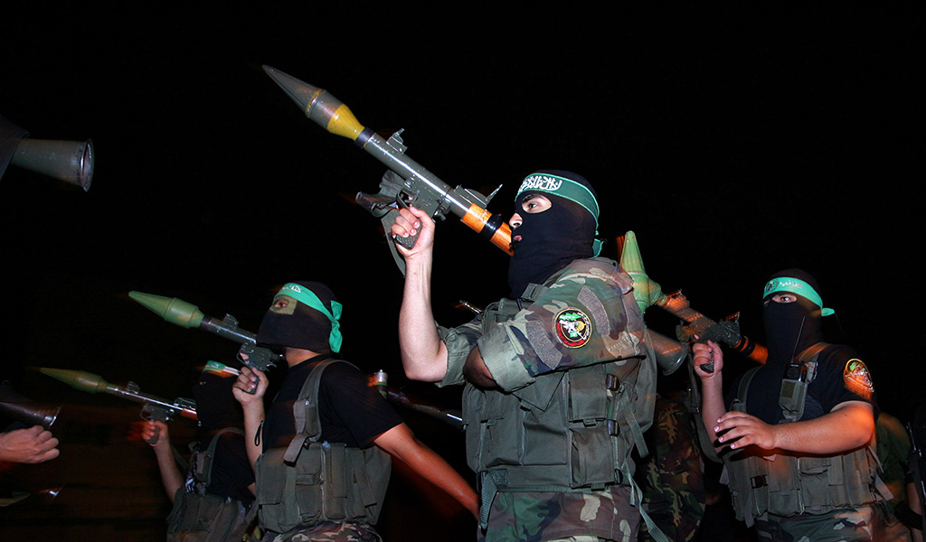 Hamas fighters in Gaza.