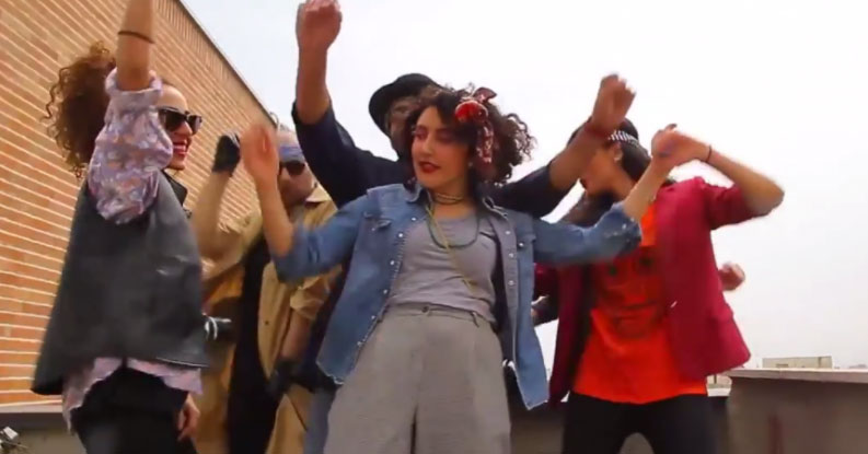 """From the music video """"Happy in Tehran"""""""