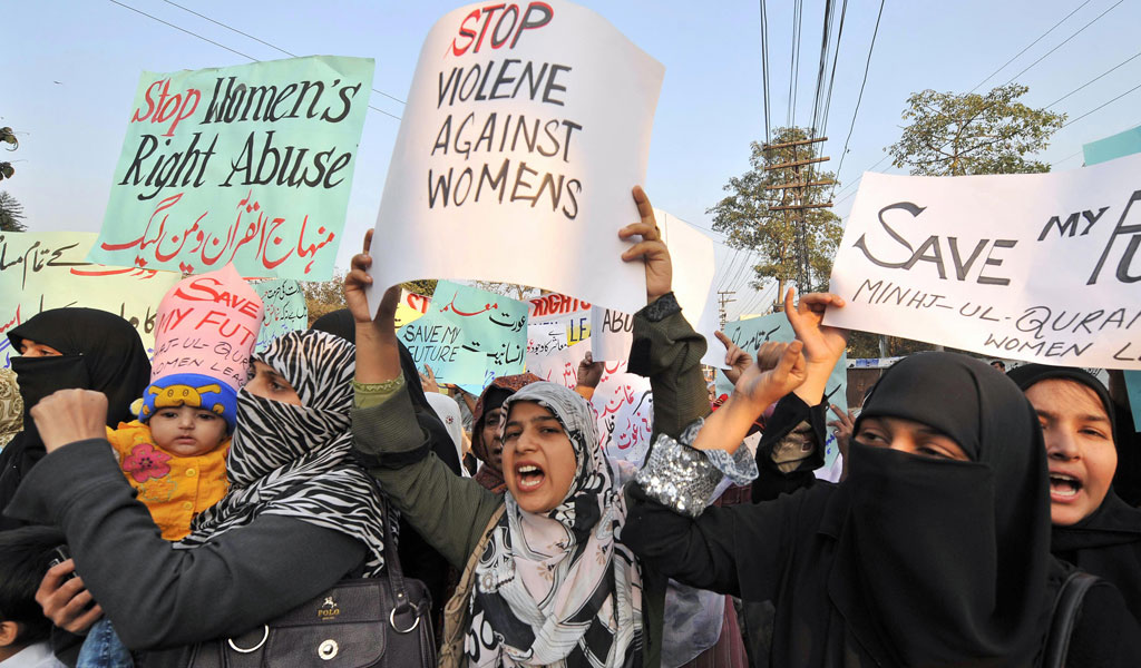 Women in Pakistan protest against honor killings