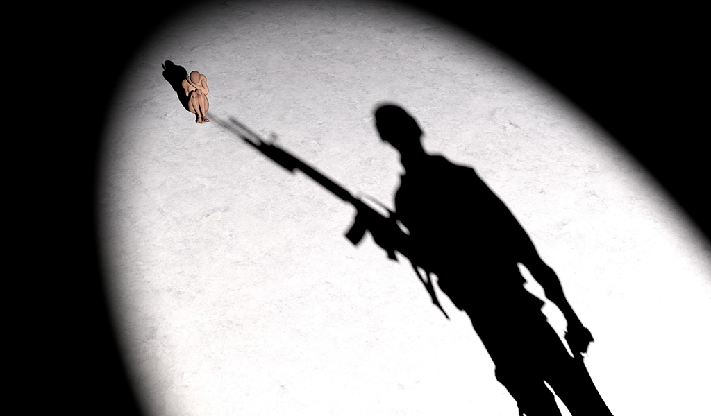 Soldier shadow (illustrative image)