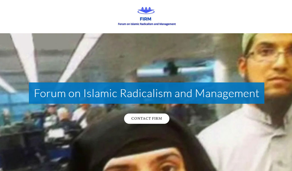 From the website of FIRM -- Forum on Islamic Radicalism and Management