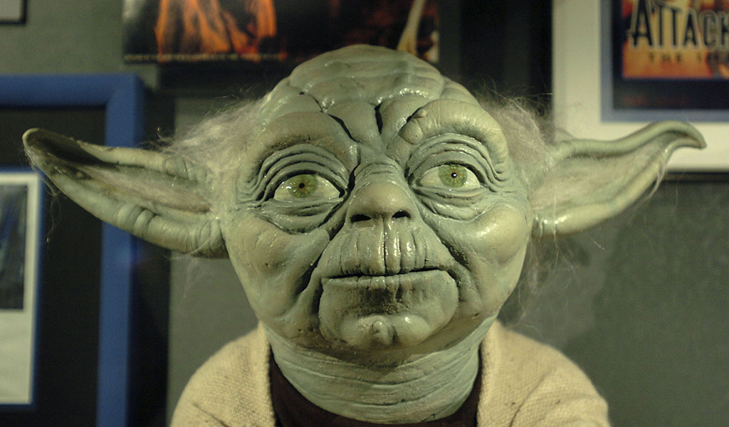 Yoda, from the Star Wars movies
