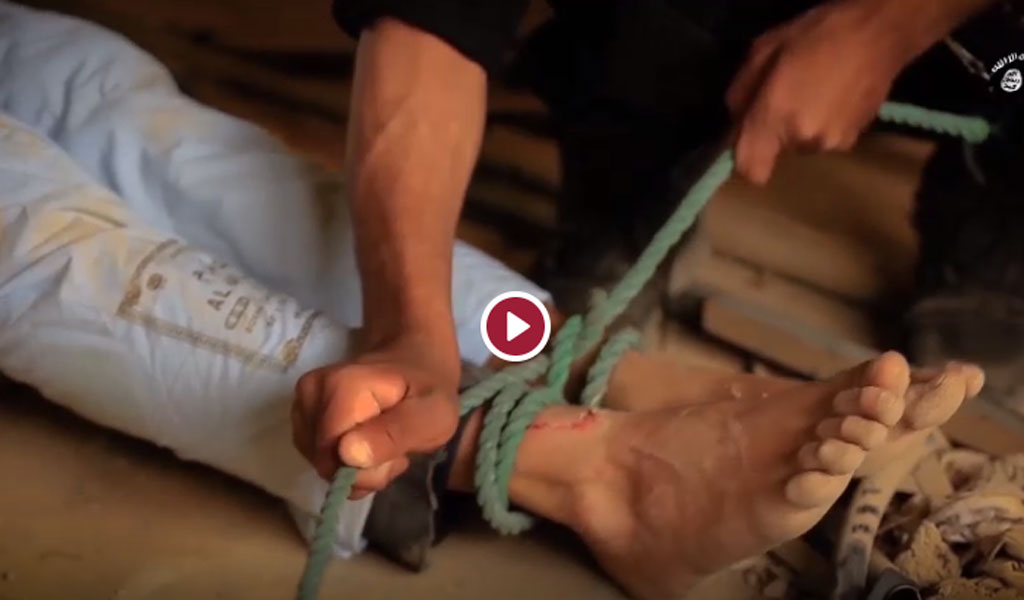GRAPHIC VIDEO: ISIS Executes Prisoners Hung From Their Ankles