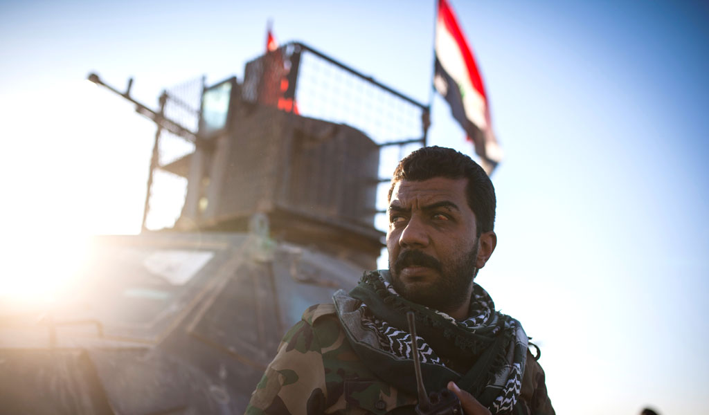 A member of the Iranian-backed Hashd al-Shaabi militia in Iraq