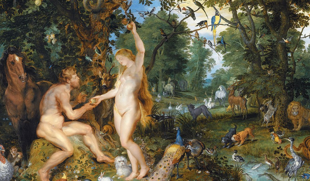 Depiction of the sin of Adam and Eve by Jan Brueghel the Elder and Pieter Paul Rubens