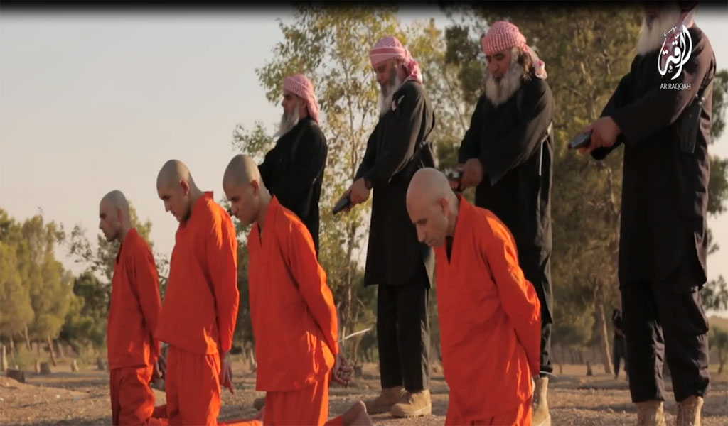 Islamic State elderly executioners appear in an ISIS propaganda video