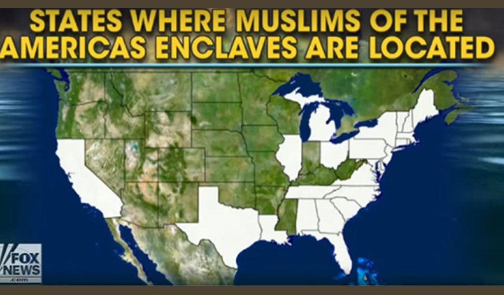 States where Muslims of the Americas enclaves are located