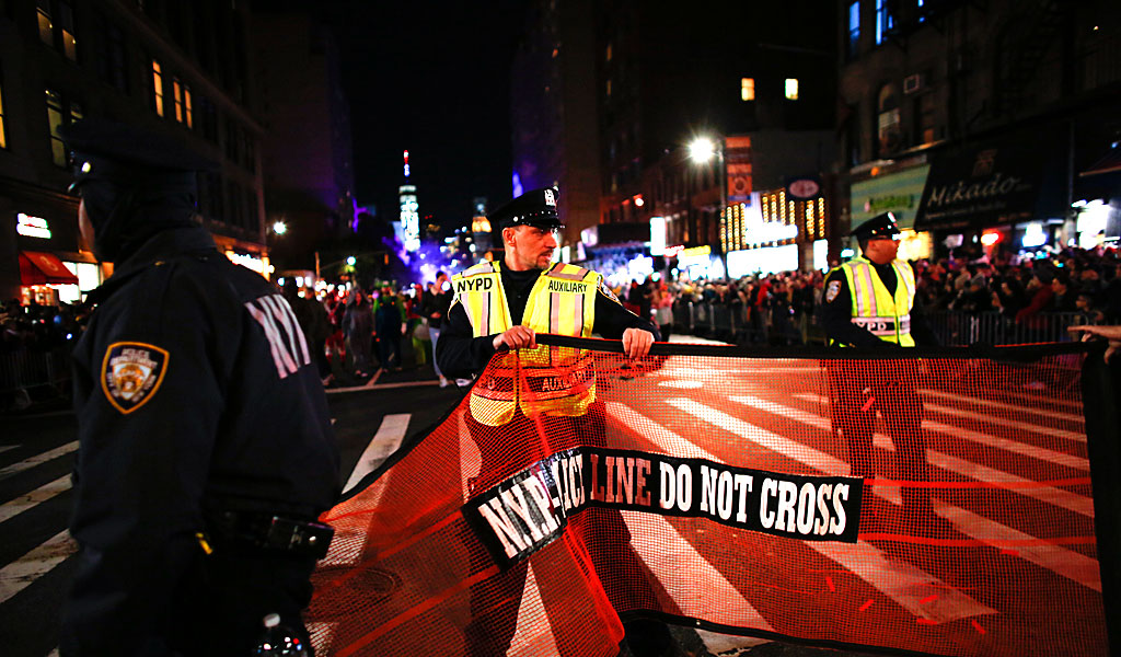 Hours after the terror attack on NYC, police secure the annual Halloween parade