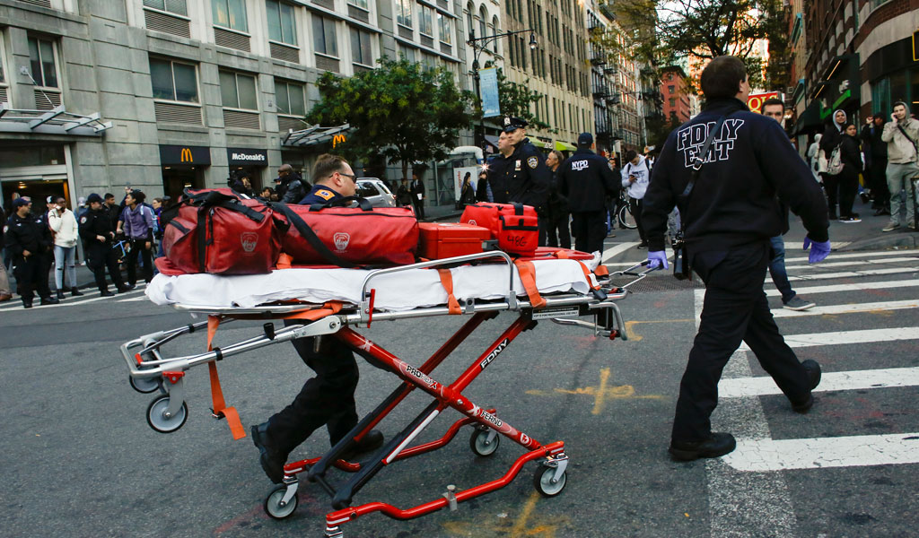 First Responders to the truck ramming in lower Manhattan on October 31, 2017 by an ISIS supporter