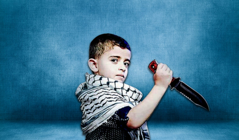 Palestinian propaganda is rife with the militarization of children  (Palestinian propaganda)