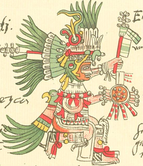 Picture of Huizilopochtli, Aztec sun god. From a contemporary codex. (Photo: Wikimedia Commons)