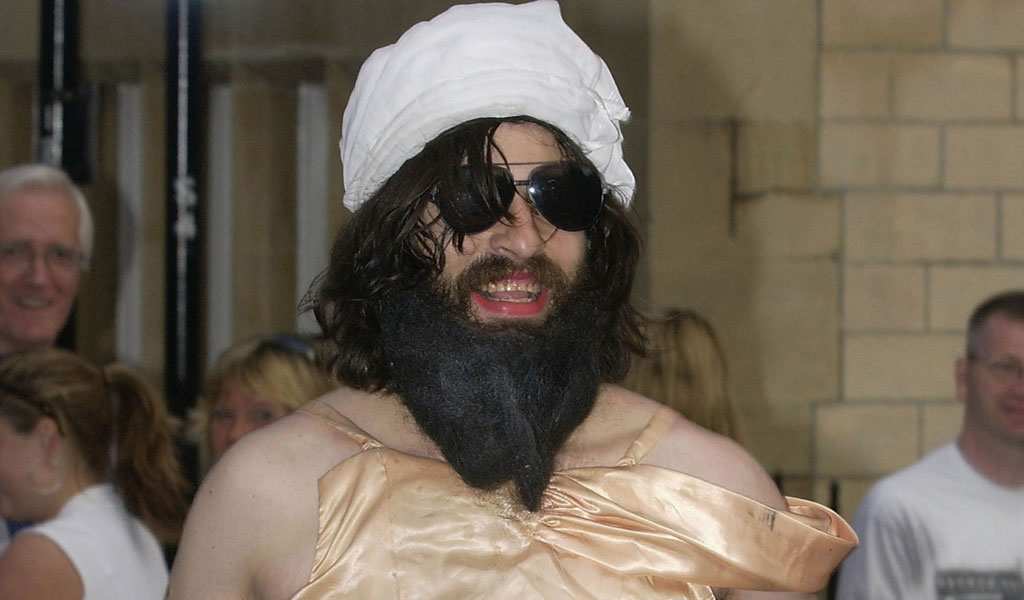 Comedian Aaron Barschak dressed as Osama Bin Laden crashed Prince William's 21st birthday party, getting past security at Windsor Castle in 2003