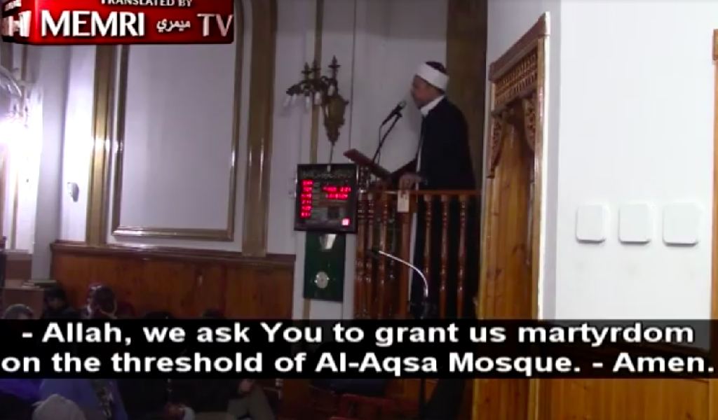Imam Aymen Elkasaby of the Islamic Center of Jersey City. (Photo: Screenshot from video)
