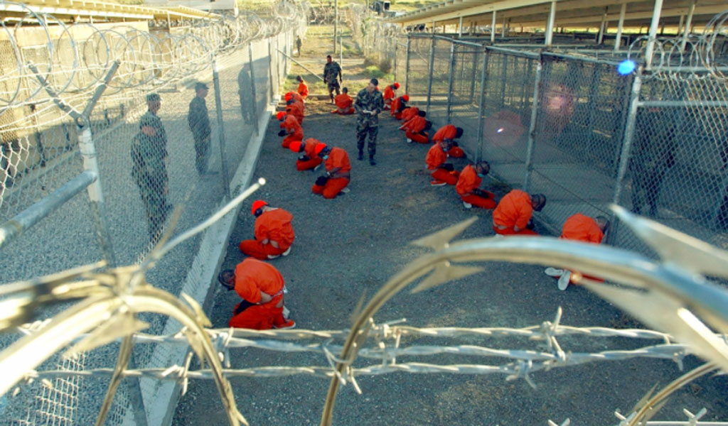 A holding area at GITMO