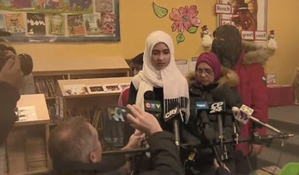 A press conference called immediately to announce the 'anti-Muslim attack'