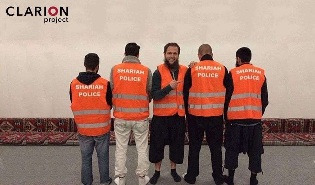 Members of the 'Sharia Patrol' in Wuppertal, Germany