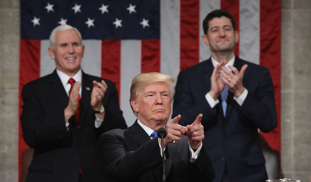 U.S. President Donal Trump delivers the 2018 State of the Union address