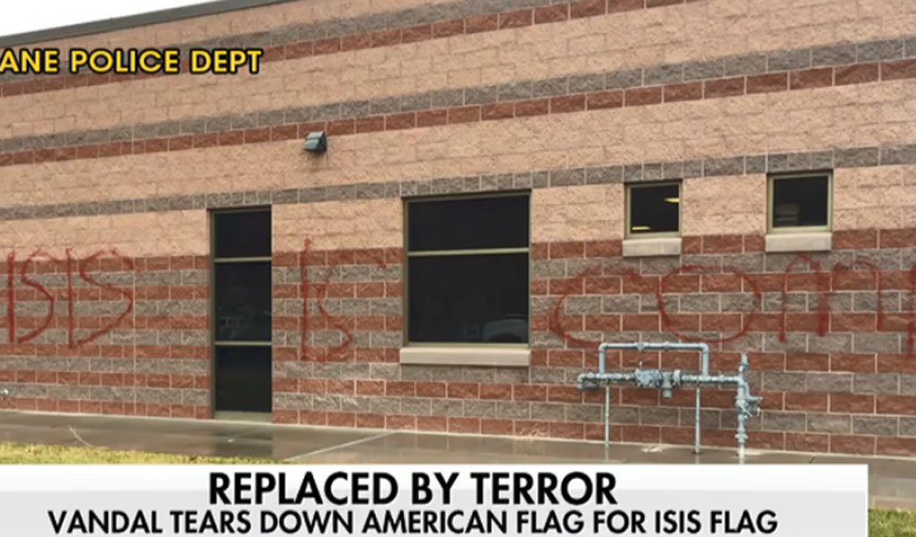 ISIS graffiti found on the wall of Hurricane High School in southwestern Utah