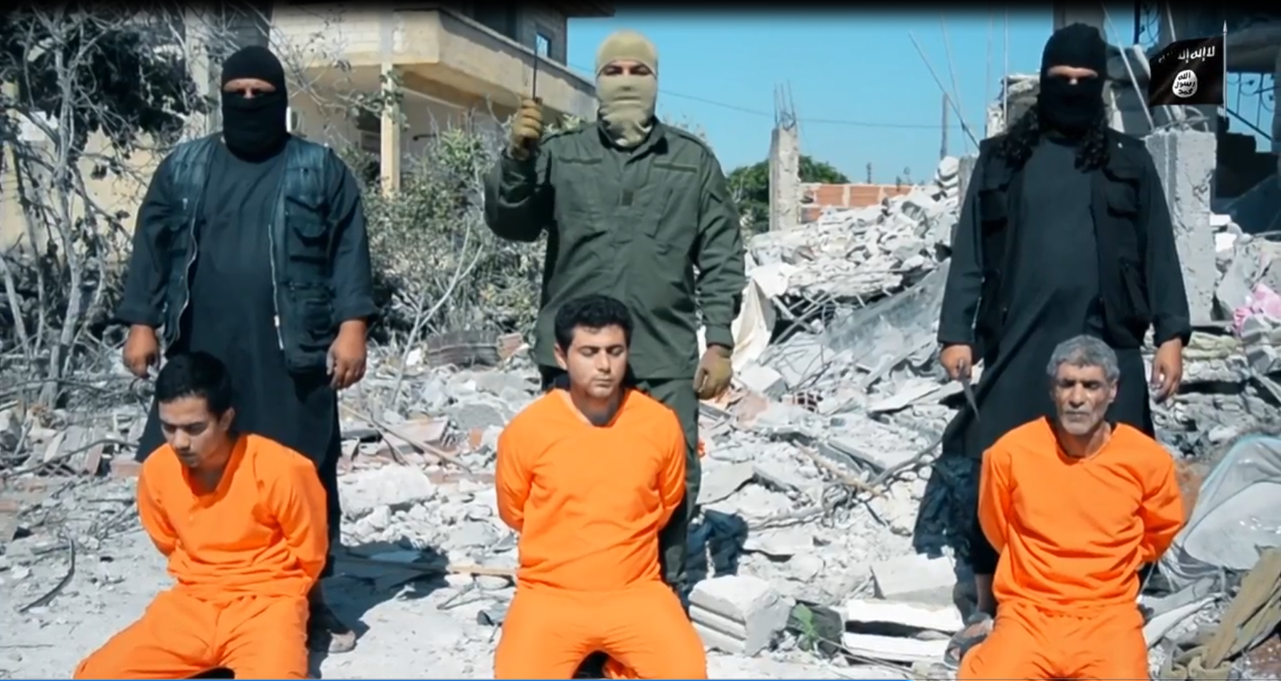ISIS released a video Feb. 26, 2018 about the Yarmouk refugee camp in Syria in which they beheaded hostages