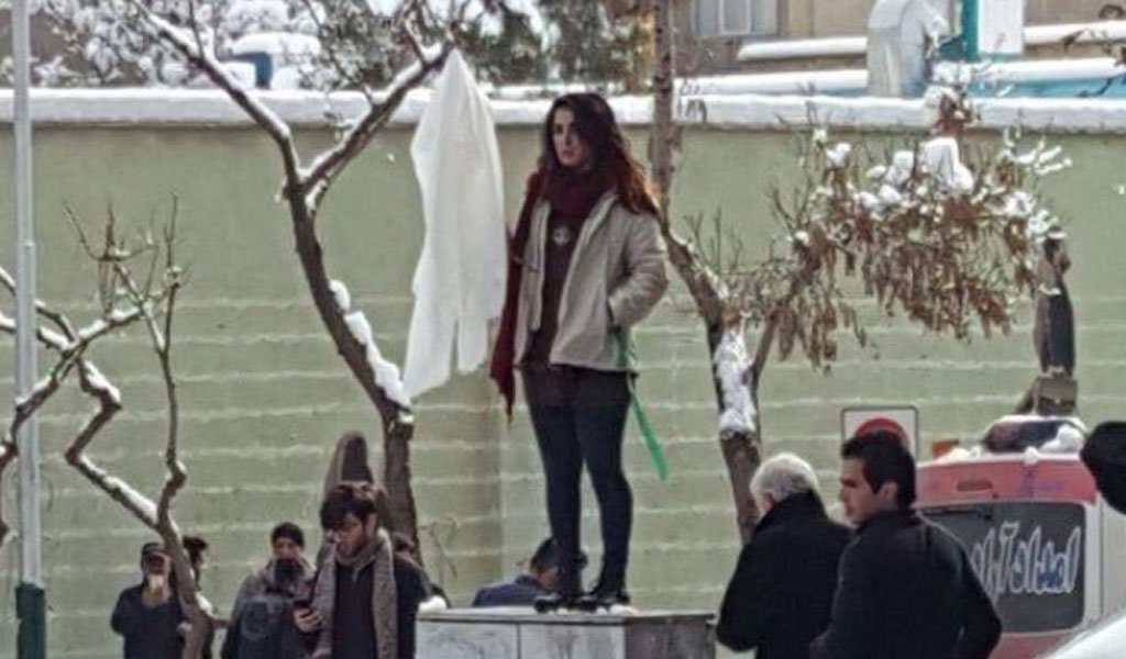 Narges Hosseini was arrested for protesting Iran's compulsory hijab. She refused to appear in court to face charges punishable by up to 10 years, including 'encouraging immorality or prostitution.'