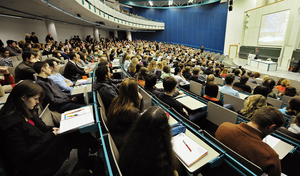 A university lecture hall (Illustrative photo: TORSTEN SILZ/AFP/Getty Images)