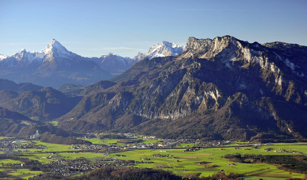 The Holy Roman Emperor Charlemagne supposedly sleeps under the Untersberg mountain near Salzburg. (Photo: Wikimedia Commons)