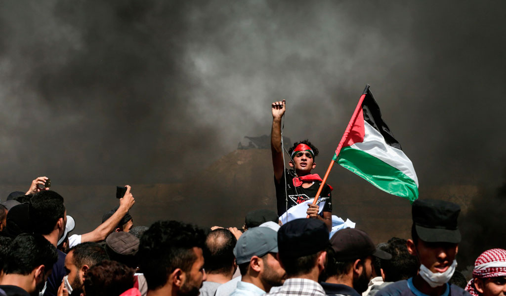 """Peaceful"" protests in the Gaza border organized by the terror organization Hamas (Photo: MAHMUD HAMS/AFP/Getty Images)"