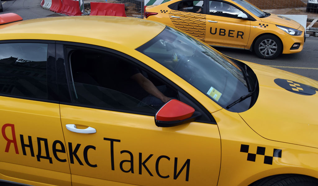 A Russian taxi (Illustrative photo: VASILY MAXIMOV/AFP/Getty Images)