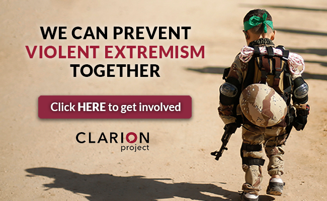 Join us as we Prevent Violent Extremism close to home. www ClarionProject.org/PVE