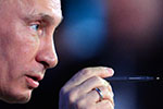 Vladimir Putin in profile (Photo: KIRILL KUDRYAVTSEV / AFP / Getty Images)