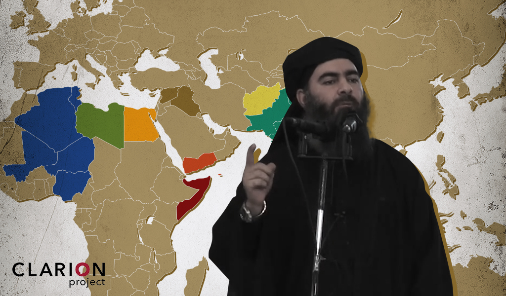 A new audio tape emerged of ISIS leader Abu Bakr al-Baghdadi. Where are the greatest threats of ISIS and al-Qaeda globally? (Photo: AFP/Getty Images; Illustration: Clarion Project)