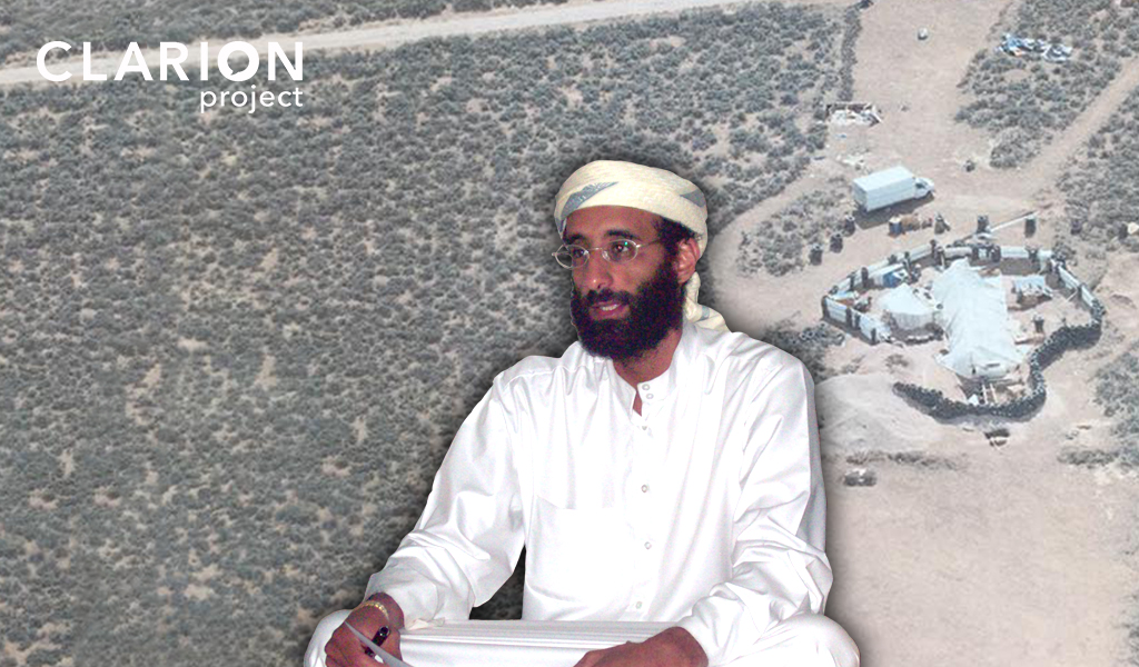 The New Mexico compound where cultish Islamist extremists were found; inset: American imam and al-Qaeda leader Anwar al-Awlaki (Photo: Clarion Project)