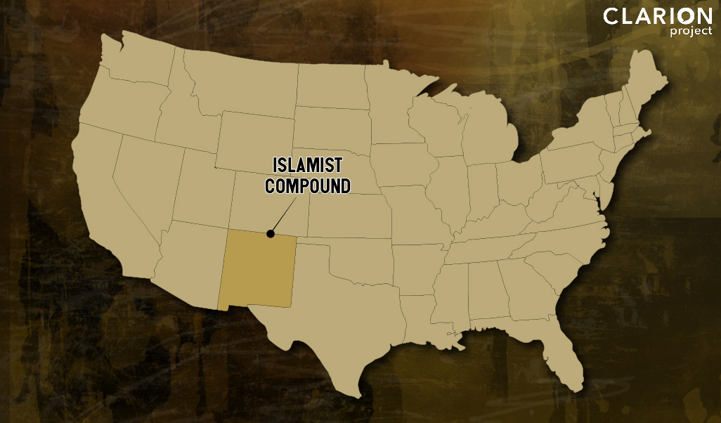 Map showing Islamist compound in New Mexico