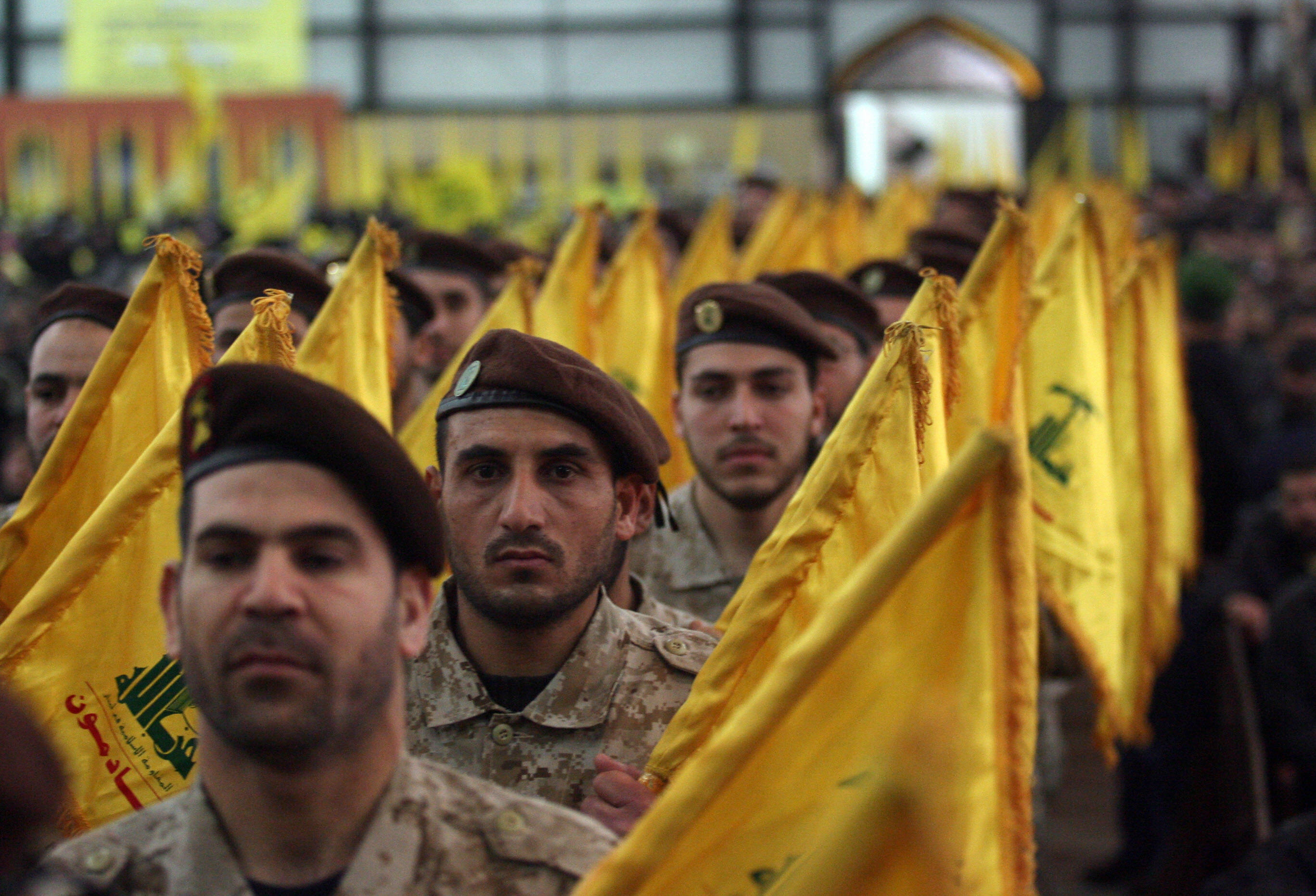 Hezbollah militants (Photo: Mazen All/AFP/Getty Images)