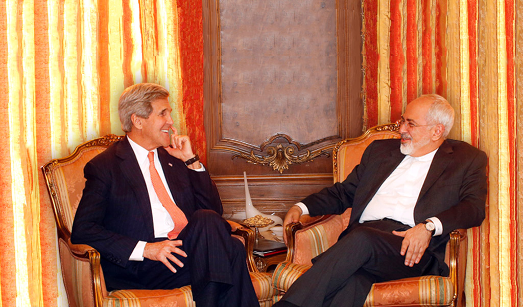 Secretary of State Kerry meeting with Iranian Foreign Minister Mohammad Javad Zarif at the UN (Photo: Jason DeCrow-Pool/Getty Images)