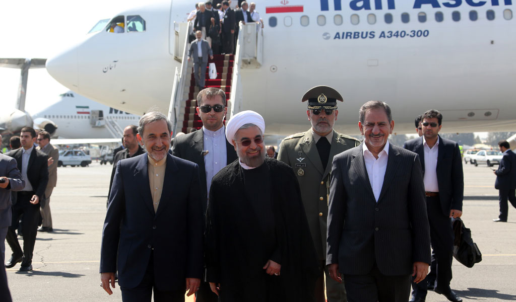 Iran's President Hassan Rouhani arrives at Tehran's Mehrabad Airport (Photo: ATTA KENARE/AFP/Getty Images)