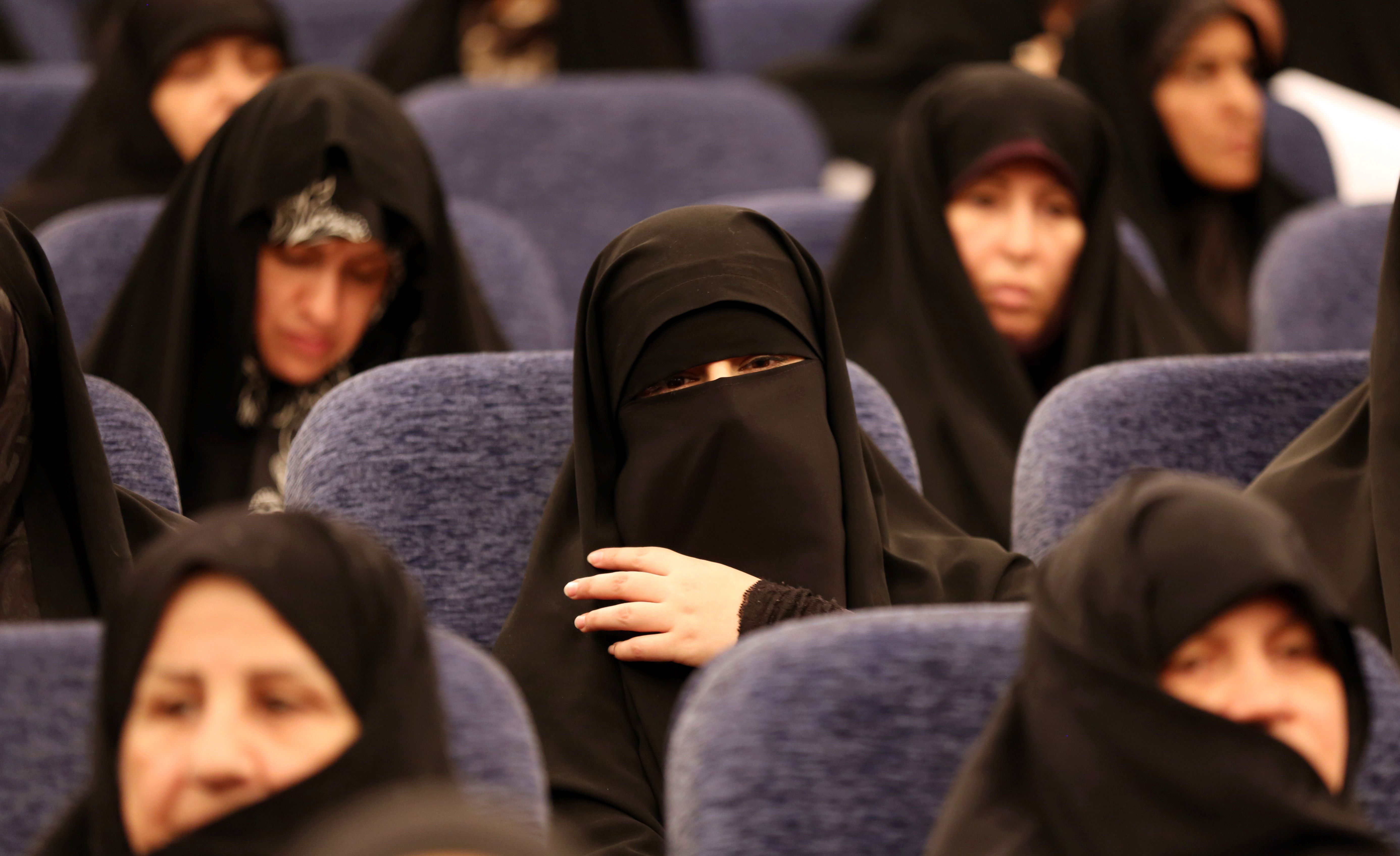 Iranian women at a conservative coalition meeting for parliamentary elections (Photo: ATTA KENARE/AFP/Getty Images)