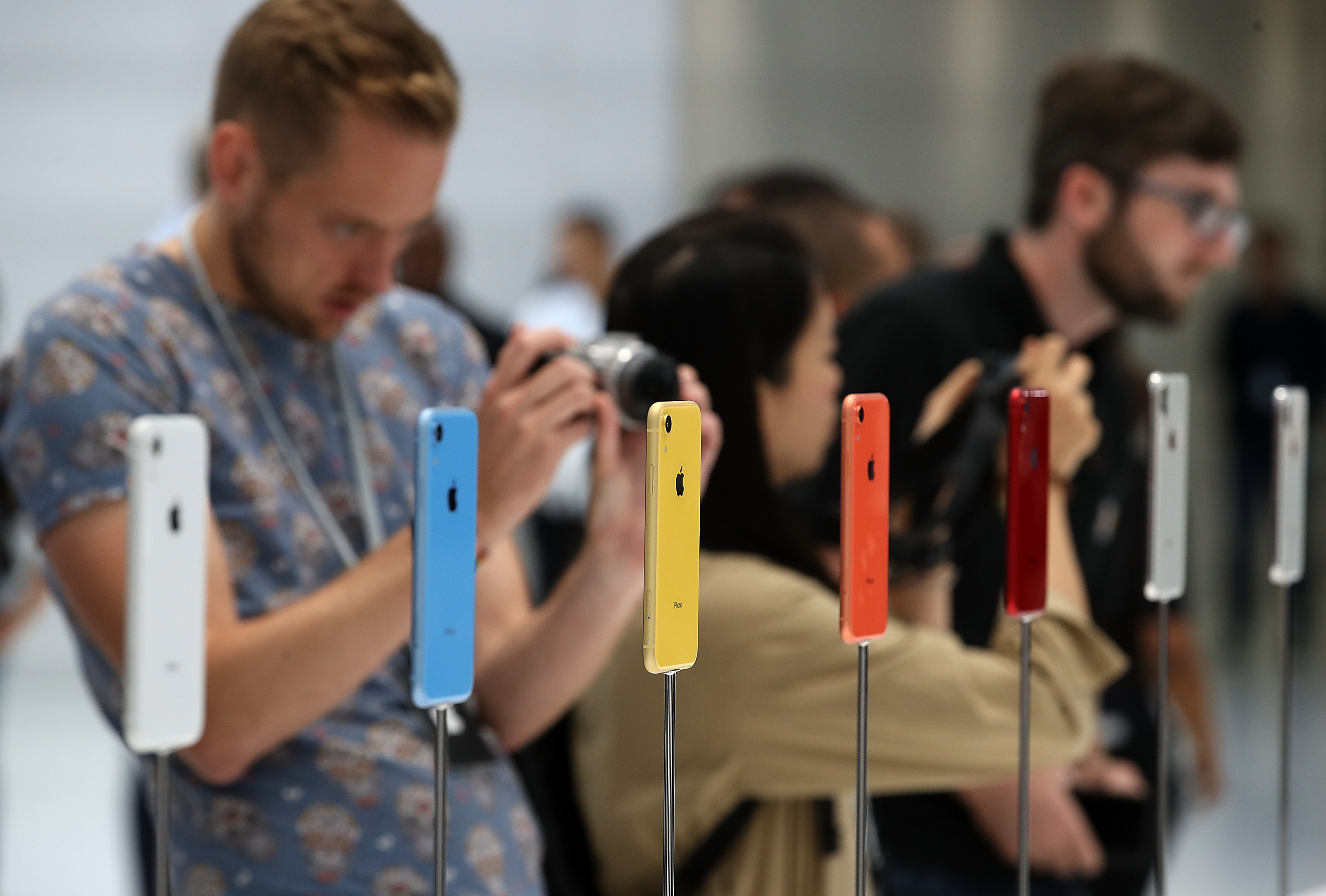 Cupertino, CA: Launch of a new Apple iPhone products on September 12, 1010. (Photo: Justin Sullivan / Getty Images)