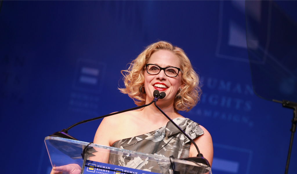 US Senate candidate from Arizona Krysten Sinema (Photo: Rich Fury/Getty Images for Human Rights Campaign)