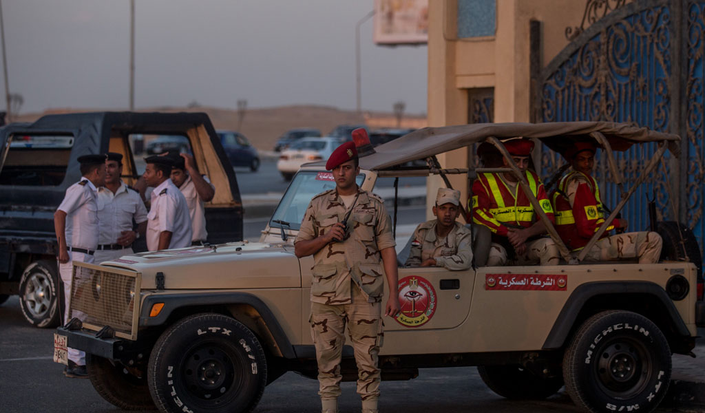 Members of the Egyptian military and police forces (Photo: Chris McGrath/Getty Images)