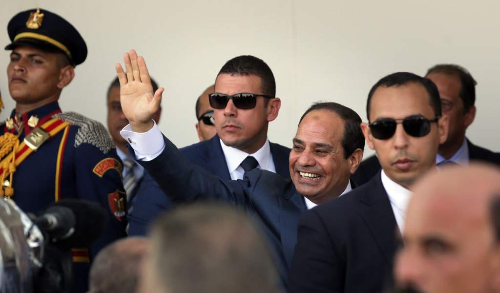 Egyptian President Abdel Fattah el-Sisi at the opening ceremony marking and $8 billion expansion of the Suez Canal in 2015.. (Photo: David Degner/Getty Images).