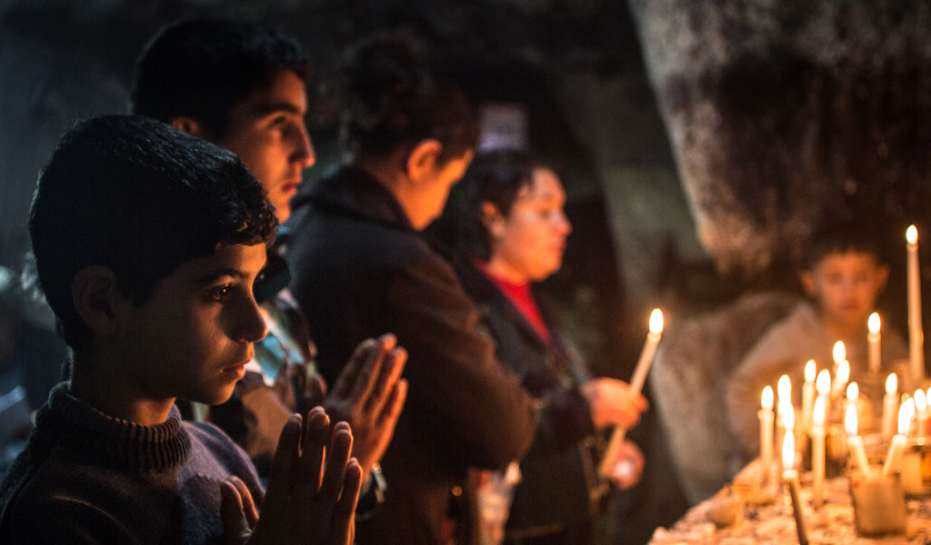 Christian refugees in Erbil (Photo: Matt Cardy/Getty Images)