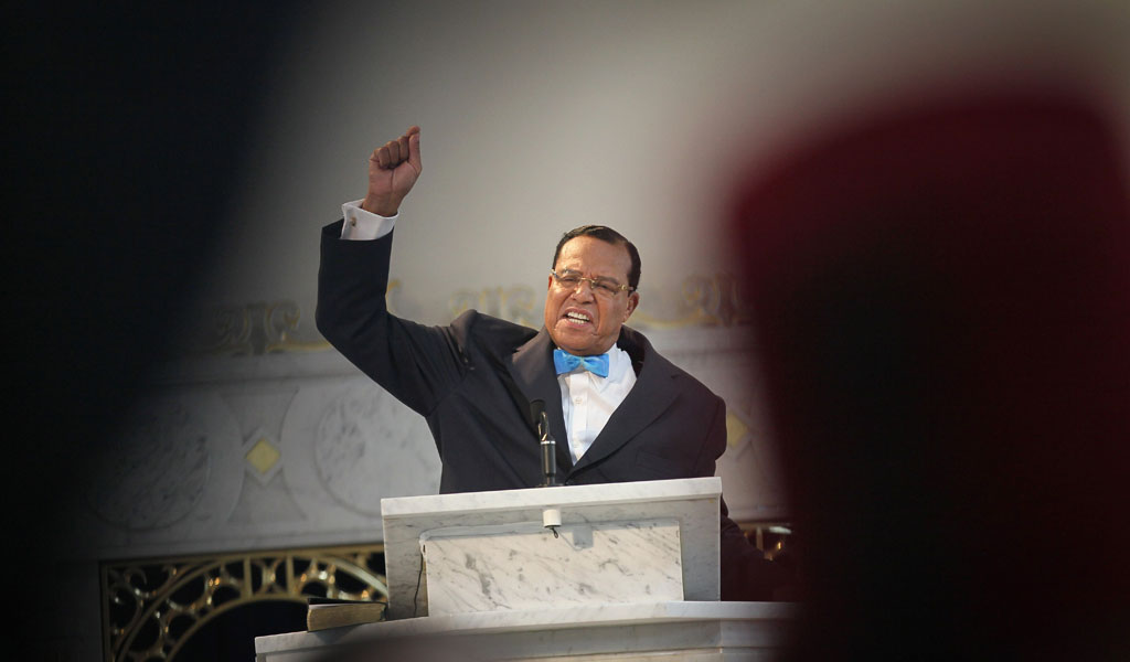 Nation of Islam leader Louis Farrakhan at a press conference in 2011 in support of Libyan dictator Moammar Gadhafi (Photo: Scott Olson/Getty Images)