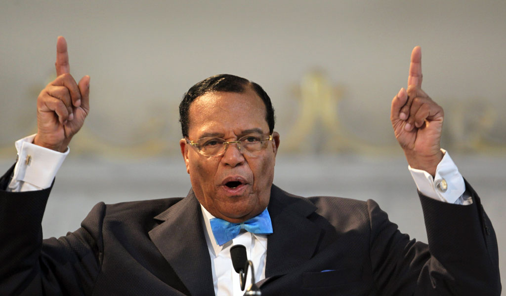 Nation of Islam leader Louis Farrakhan speaks at a press conference in Chicago in support of ousted Libyan strongman Moammar Gadhafi (Photo: Scott Olson/Getty Images)