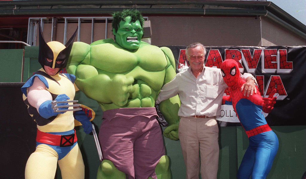 Stan Lee with some of his Marvel Comic characters (Photo: Getty Images)