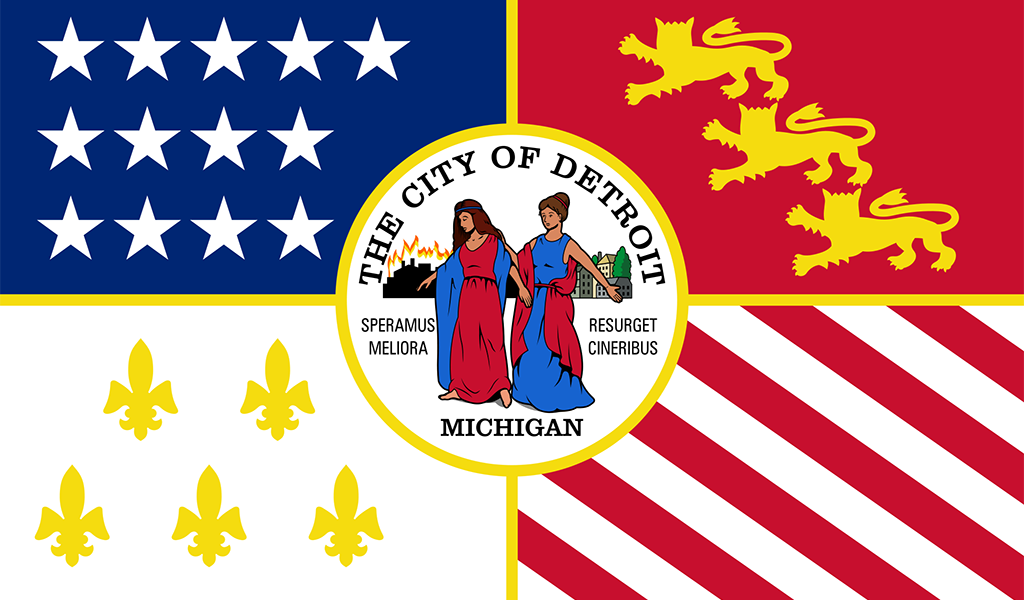 The flag of Detroit (Image: Wiki Commons)