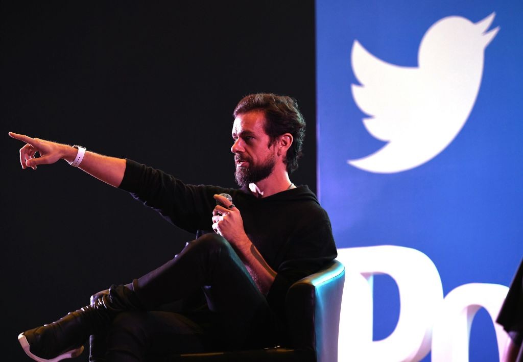 Twitter CEO and co-founder Jack Dorsey in New Delhi, India. (Photo: Prakash Singh/ AFP / Getty Images)