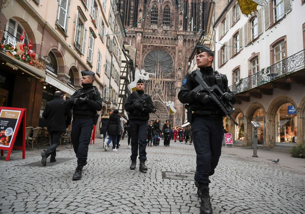 Strasbourg, France: Three people were killed and 13 wounded when a lone gunman, identified as Cherif Chekatt, 29, opened fire on shoppers on December 11, 2018. (Photo: Sebastien Bozona / AFP / Getty Images)
