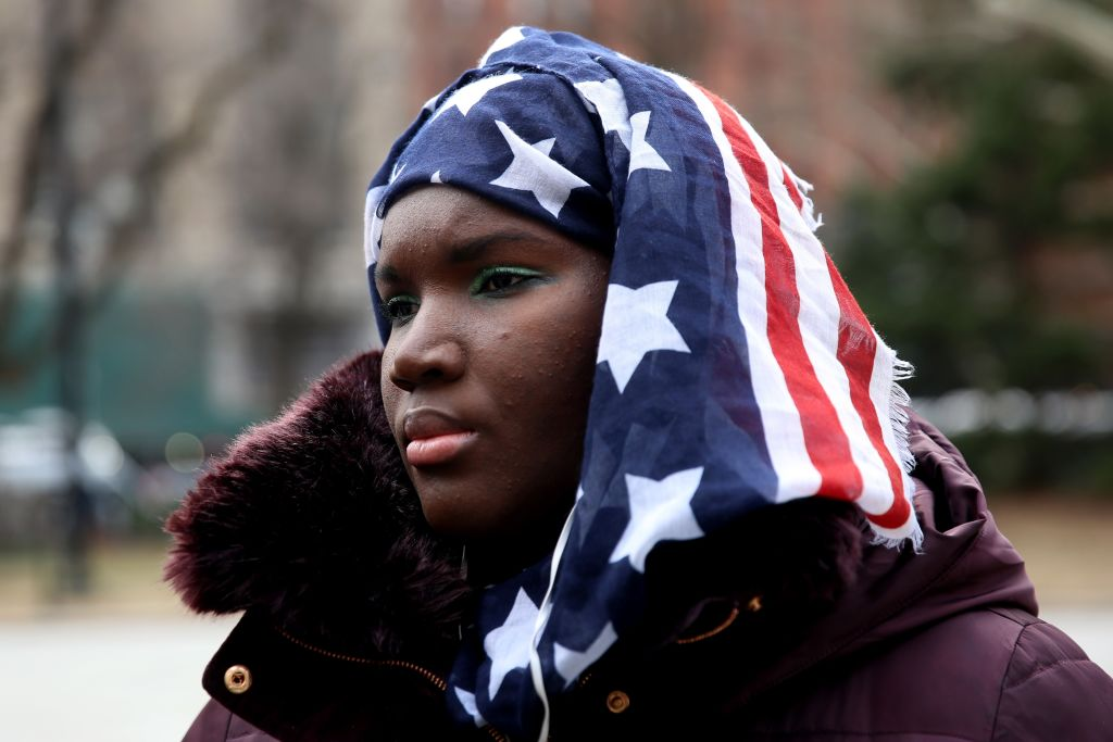 Muslim American women participate in World Hijab Day. (Photo: Mohammed Elshamy / Anadolu Agency / Getty Images)